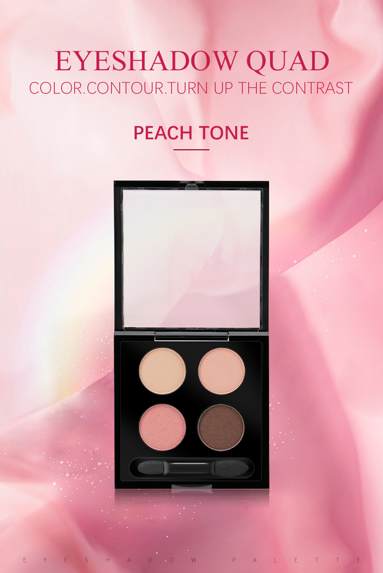Wholesale Best Selling Cosmetic Private Label Custom Makeup 4 Color Eyeshadow Palette