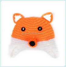 Handmade lovely crochet baby animal winter earflap cow hat for kids and children boys girls cute photo props