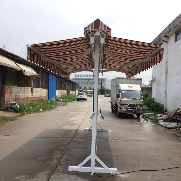 SZC-3500 aluminum electric free standing double side retractable awning