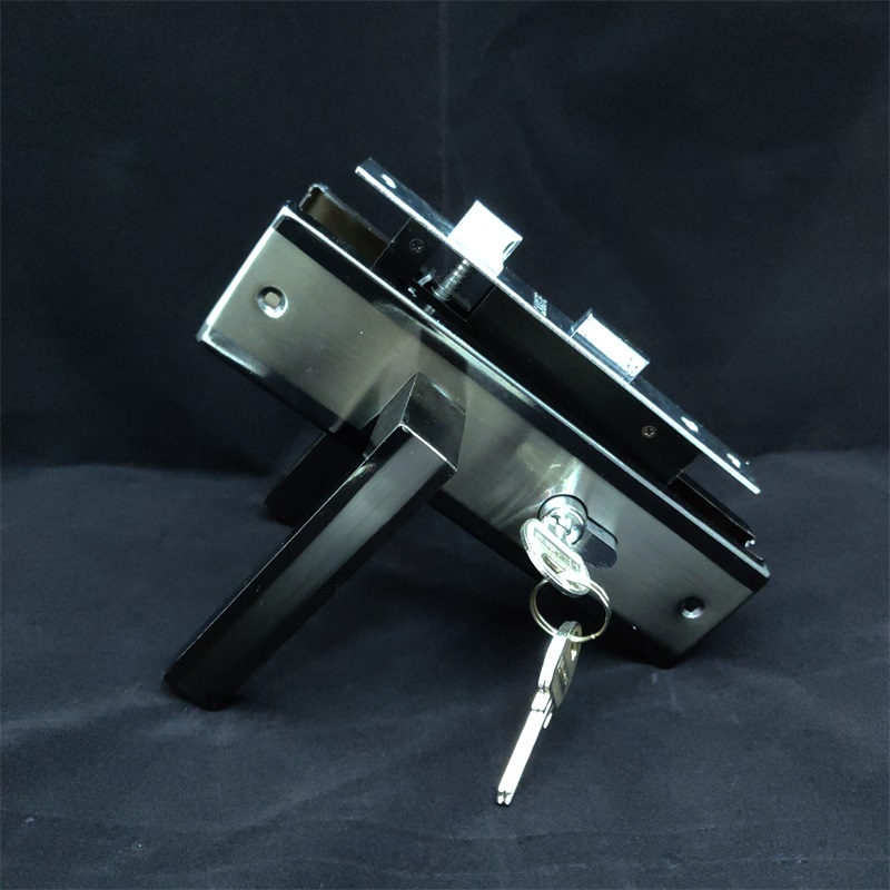 Golden Aluminum Handle Iron Door Locks Stock 5806