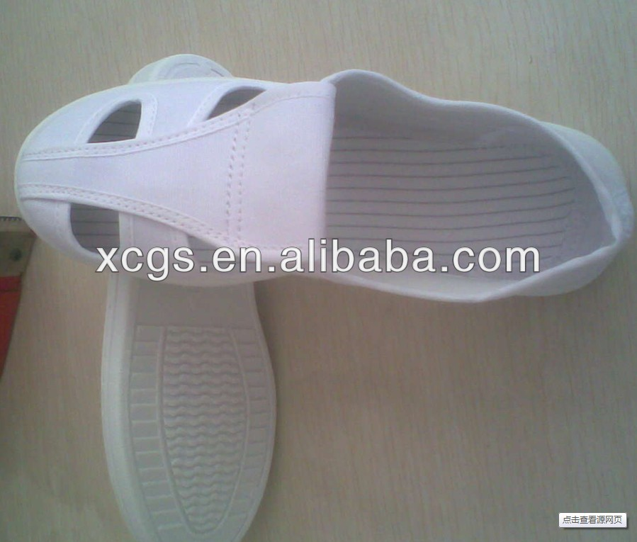 Anti static white canvas shoes/ESD protective clean shoes/Safety laced boots