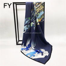 Custom Design Scarf Digital Print Fashion Silk Scarf Scarves