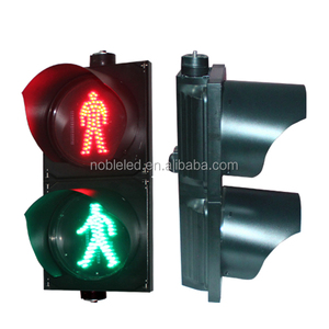 8 Inch Polycarbonate Housing Solar Pedestrian Traffic Lights