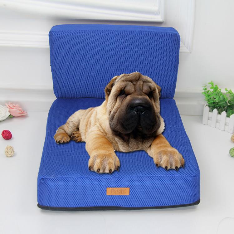 Memoire Mousse Bleu Pet Chien Lit Canape Couverture A Un Prix