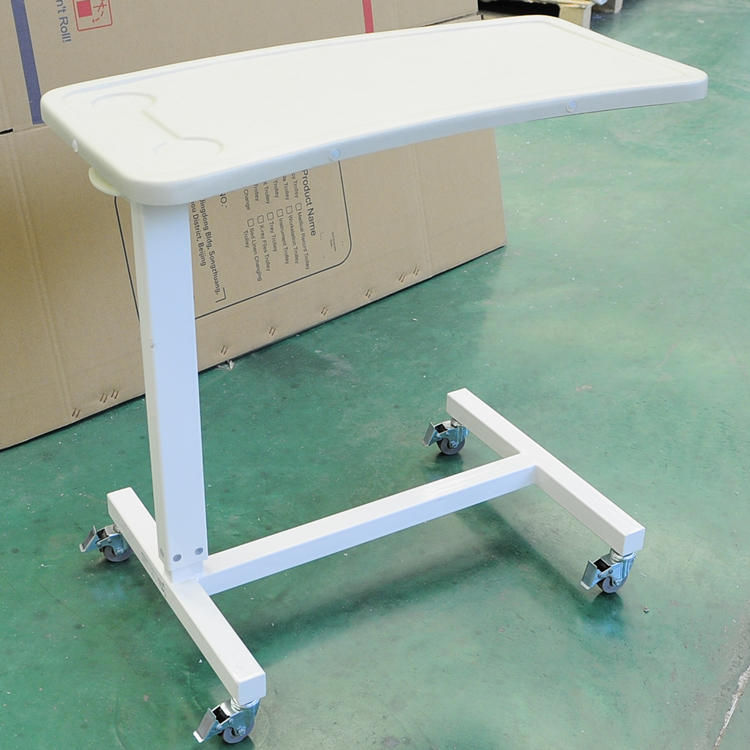 Best Quality Hospital Bedside Table Folding Overbed Table