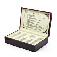 Wholesale cheap price cosmetic wooden box, cosmetic set packaging wooden gift box