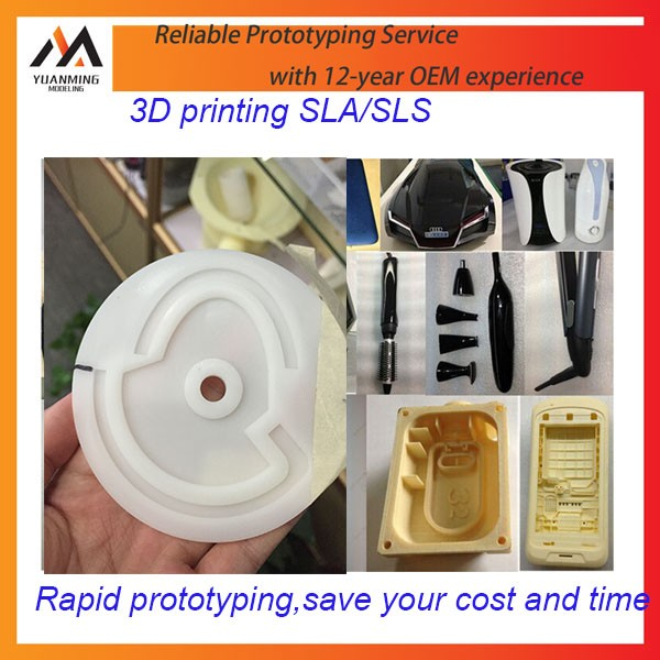 China Low Cost SLA 3D Plastic Printing Rapid Prototype Maker For CNC Machining Parts