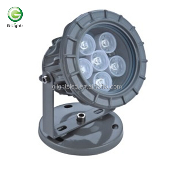 RGB Color Changing DMX Controller Waterproof IP65 6w LED Flood Light