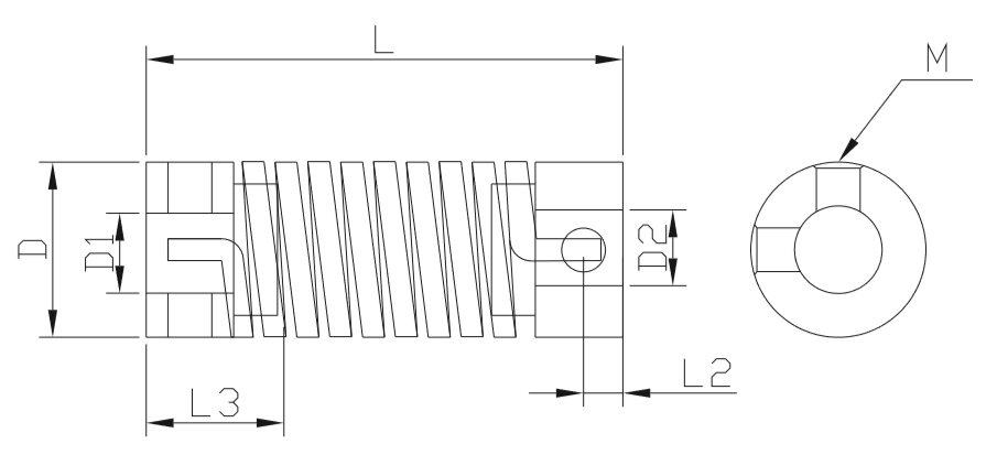 Chbg Cnc Motor Rotary Encoder Drive Flexible Shaft Types Spring Coupling -  Buy Spring Coupling,Set Screw Coupling,Highly Flexible Elastic Couplings