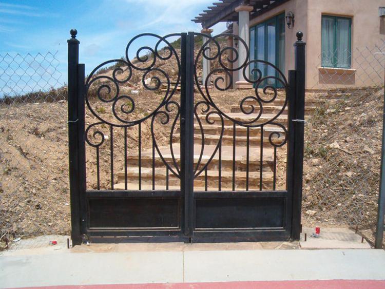 Simple Iron Gate Design Security Iron Gates Rot Iron Gates