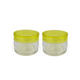 New arrival plastic 15ml bottle cream jar with yellow cap