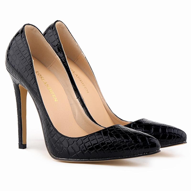 af2b75afe4ec Get Quotations · Fashion Ladies Pumps Faux Crocodile Grain pattern High  Heels Stilettos Sexy Women Shoes US Size 4