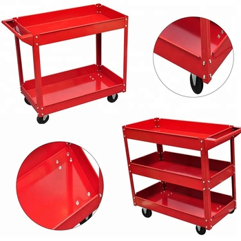 2~3 Shelves Workshop Rolling Tool Trolley Garage Cabinets Utility Service Carts