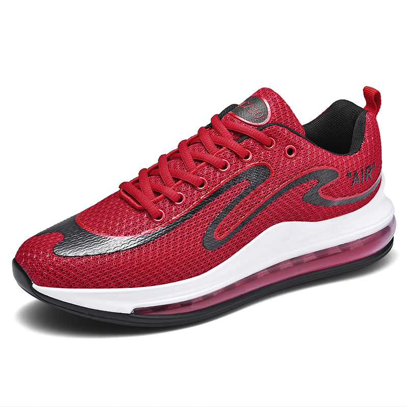 2019 Latest Design Breathable Anti-Slip Air Cushion 720 Style Mesh Sport Running Sneakers Shoes for Men, Black;red;white