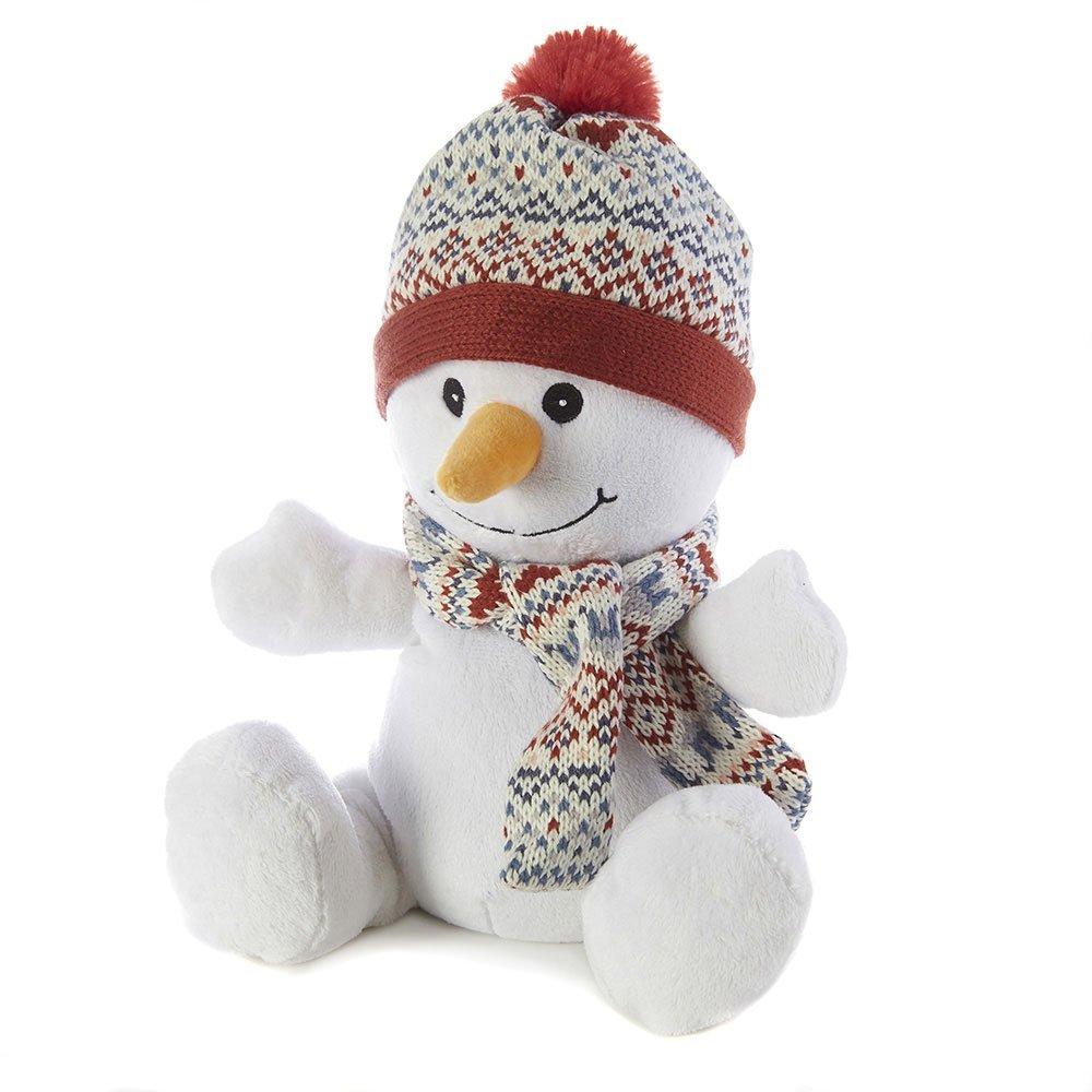 Intelex Warmies Cozy Plush Snowman - Microwavable / Heatable Plush Toy