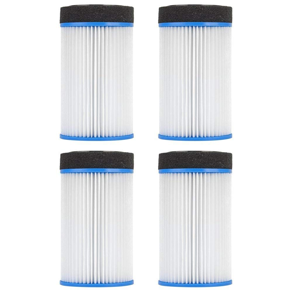 "Clear Choice CCP103 Pool Spa Replacement Cartridge Filter for Spa-in-a-Box, M-SPA, Spa2Go Filter Media, 4-1/2"" Dia x 7-4/5"" Long, [4-Pack]"