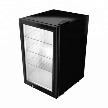 mini glass fronted fridge