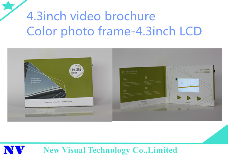 China manufacturer 4.3inch lcd video in print technology suppliers