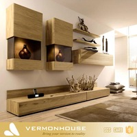 2018 Hangzhou Vermont Modern Design Lcd TV Plywood Wall Cabinet Design Living Room