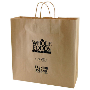 Usa Made Natural Kraft Ping Bag Dimensions Are 16 X 6 15 8 And Comes With Your Logo Brown Paper Bags Bulk