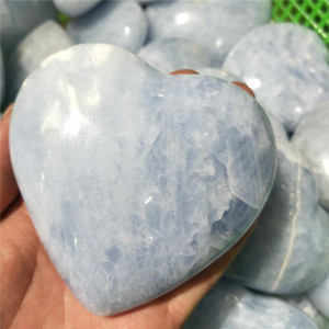 wholesale natural polished amazonite stone heart
