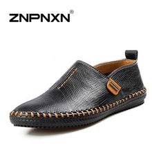 Men's Shoes New Fashion Men Flat sapatos de couro High Quality Boots Shoes Low Top Men Sneakers Genuine Leather Oxford Shoes