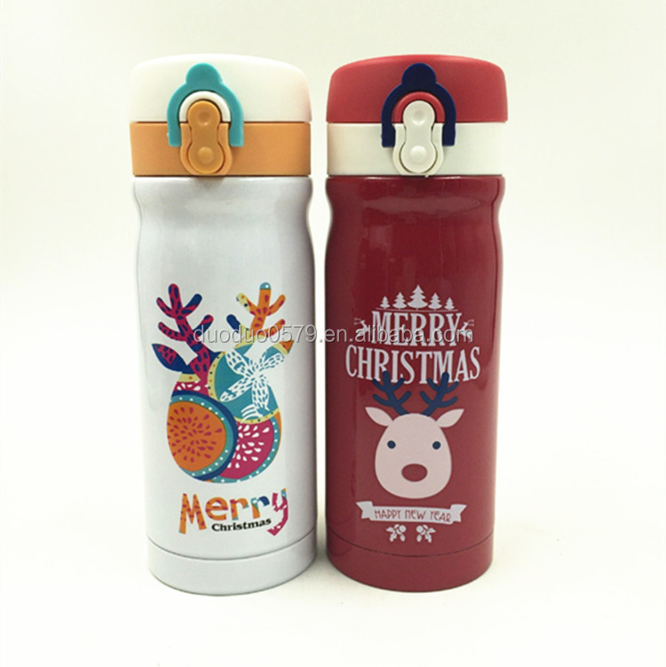 BW-010 OEM thermo insulated water bottle Christmas vacuum flask