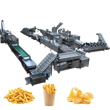 300Kg capacity industrial potato chips making machine frozen french fries line machine for sale