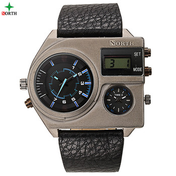 Square Shaped Mens Multi Function Analog Digital Big Face Watches