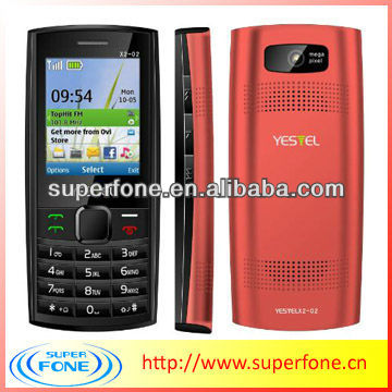 2.2 inch low cost mobile phone X2-02 cheap handset Support MP3 MP4 Bluetooth