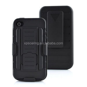 Kickstand shockproof case back cover for iphone 4G 4S, Clip case for iphone 4