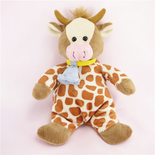 Promotional Plush Deer Stuffed PP Cotton with Cloth Bell