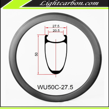 LightCarbon 2017 Chinese cheap 700c carbon fiber road bicycle rims and wheels for sale WU50C