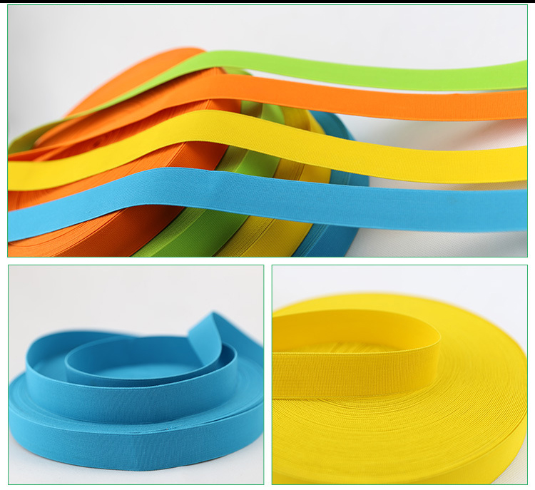 Wholesale china factory 10mm textile color anti slip elastic band