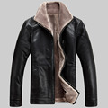2016 new winter men s thick leather jacket short paragraph Men s casual leather jacket plus