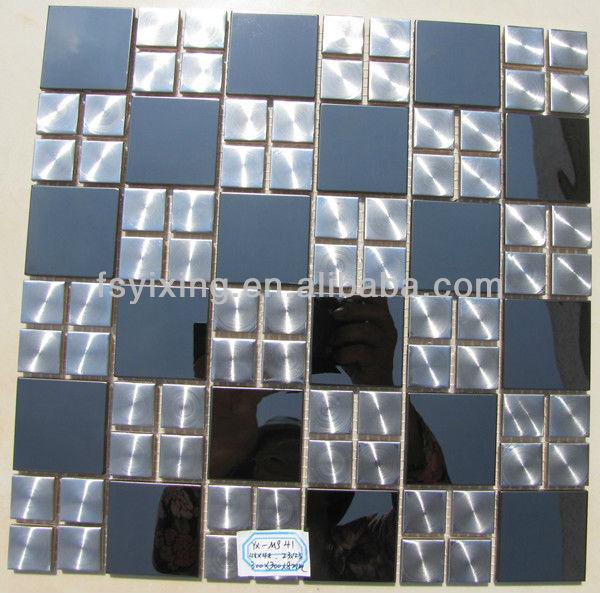 spiegel polishe fertige effekt edelstahl mosaik fliesen f r wand dekoration ms38 ist von foshan. Black Bedroom Furniture Sets. Home Design Ideas