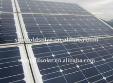 125W18V mono solar panels with17.8% conversion efficiency energy