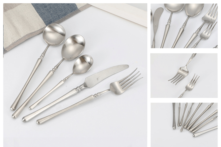 Hot Sale Royal Matte Polish Stainless Steel Cutlery Set