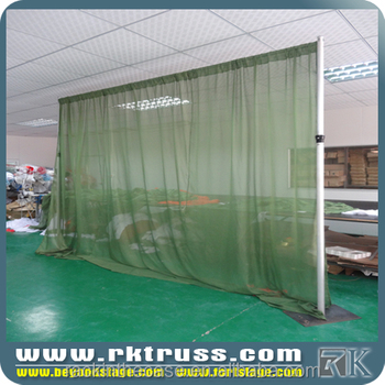 Rk Event Wedding Aluminum Backdrop Stand Pipe Drape Party Events Green Chiffon Background