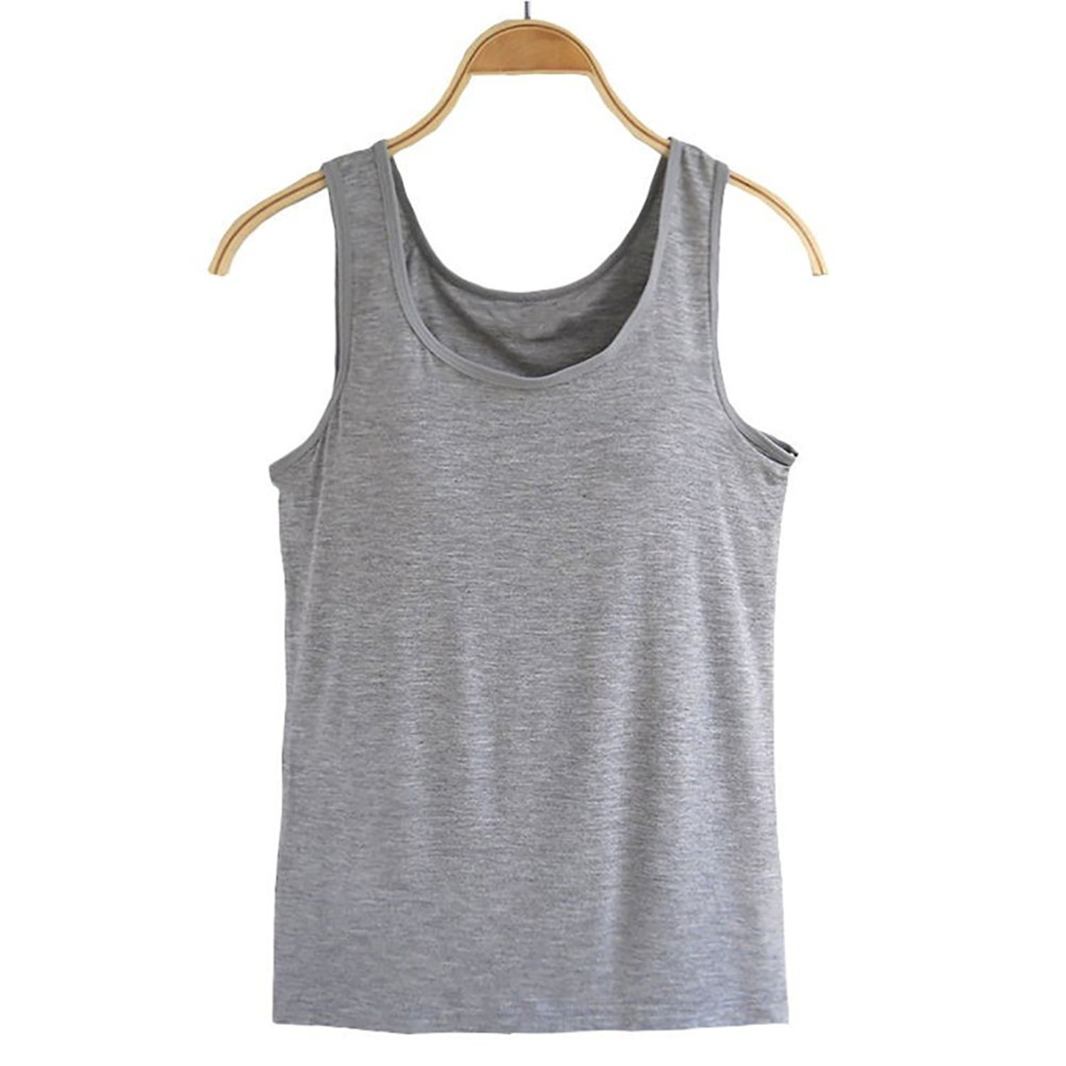 bc19633379134 Get Quotations · Ibeauti Womens Cami with Shelf Bra Sleeveless Camisole  Tank Tops