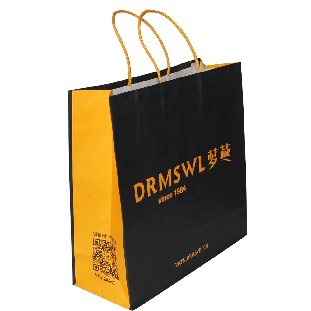 China custom logo door gift paper bag manufactures, custom printed bags