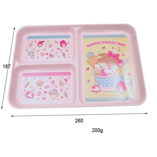 Little Kids Divided Plate with Hello Kitty pattern