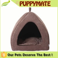Yurt Style Pet Dog Cat Bed Indoor House , Kennel With Plush Mat Pad