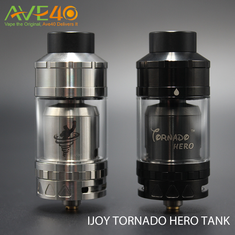In stock!!! 2016 new e cigarette IJOY tornado hero RTA 5.2ml Capacity all in stock vape pen sub ohm tank