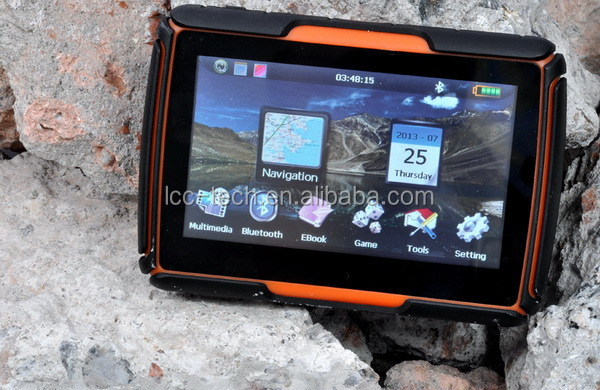 Moto GPS /waterproof motorcycle GPS navigator 128M/256M RAM+8G ROM optional