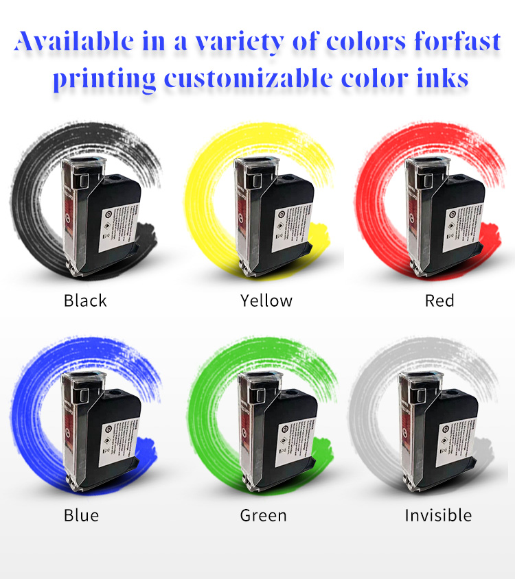2020 thermal inkjet printer bar code label printer TIJ printer labeling characters on plastic