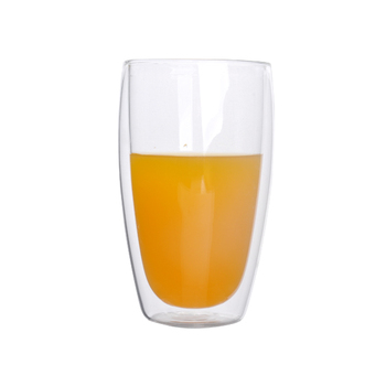 Customized double wall glass cup drinking glass tumbler