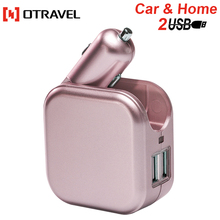2018 original fabrik herstellungs <span class=keywords><strong>zubehör</strong></span> handy 5V2. 1A 2 in 1 usb car charger 2 port