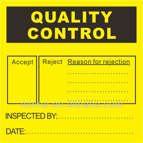 Custom Quality Control Labels,Inspection labels