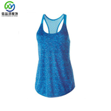 Polyester/spandex custom blau stringer workout dry fit plain fitness gym tank top frauen in groß hersteller